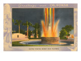 Greetings from California  Electric Fountain  Beverly Hills