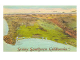 Vintage Map of Southern California