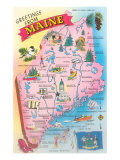 Greetings from Maine  Map
