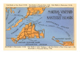 Map of Martha's Vineyard and Nantucket  Mass
