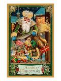 A Merry Christmas  Santa with Bag