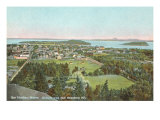 Overview of Bar Harbor  Maine