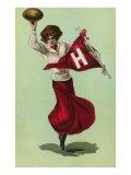 Harvard Cheerleader  Cambridge  Massachusetts