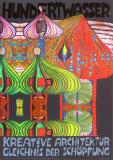 Kreative Architecture Reproduction d'art par Friedensreich Hundertwasser