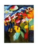 Murnau-Garden II, 1910 Reproduction d'art par Wassily Kandinsky