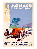 Monaco Grand Prix F1 Race  c1934