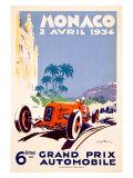 Monaco Grand Prix F1 Race  c1934