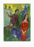 The Artist and His Model Reproduction pour collectionneurs par Marc Chagall
