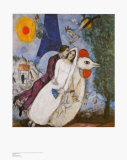 Bridal Couple with Eiffel Spride Reproduction d'art par Marc Chagall