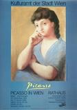 Portrait of a Woman in a Blue Dress Reproduction d'art par Pablo Picasso