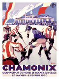 Chamonix/Hockey Giclée par Roger Broders