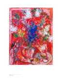 The Red Flowers Reproduction d'art par Marc Chagall