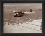 China Clipper in Flight over San Francisco  California 1939
