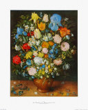 Flowers in a Brown Vase