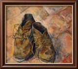 Paire de chaussures Reproduction giclée encadrée par Vincent Van Gogh