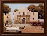 Piments à l'Alamo Reproduction encadrée par Julian Robert Onderdonk
