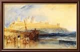 Dunstanborough Castle, North Reproduction encadrée par J. M. W. Turner
