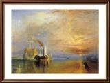 Le vaisseau le Téméraire Reproduction encadrée par J. M. W. Turner