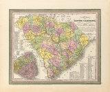 A New Map of South Carolina  1850