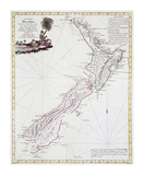 Map Of New Zealand  1778