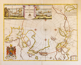 A Map of the North Pole and the Parts Adjoining, 1680 Giclée premium par Moses Pitt