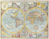 A New and Accurat Map of the World  1627-1651
