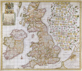 A New Mapp of England  Scotland and Ireland  1680