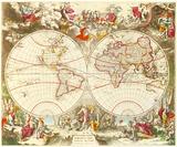 Novissima Totius Terrarum Orbis Tabula  c1710