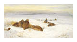 Partridges in a Winter Landscape
