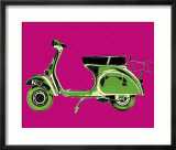 Vespa on Pink