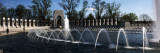 Fountains at a War Memorial  National World War Ii Memorial  Washington Dc  USA