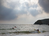 Kayaking at Kilfarassy Cove  Copper Coast  County Waterford  Ireland