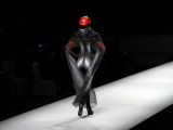 Chinese Model Displaying a Creation by Fashion Designer Xi Jingkai During Fashion Week in Beijing