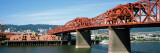 Bascule Bridge across River  Broadway Bridge  Willamette River  Portland  Multnomah County  Oregon