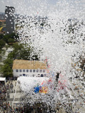 Balloons are Released into the Air to Celebrate the New Year in Sao Paulo