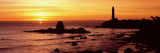 Silhouette of a Lighthouse at Sunset  Pigeon Point Lighthouse  San Mateo County  California  USA