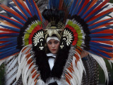 Model Wears Creation by Mexico's Fashion Designer Alejandro Carlini at International Designers Show