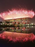 Fireworks Explods over National Stadium During the Opening Ceremony of Beijing 2008 Olympics