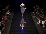 Model on the Catwalk  Displaying a Creation by Fashion Designer Lea Seong During China Fashion Week