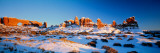 Rock Formations on a Landscape  Arches National Park  Utah  USA