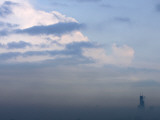 Sears Tower Rises Above the Early Morning Fog in Chicago