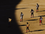 Bullfighters Make the Traditional Entrance into the Arena, before a Bullfight in Madrid Papier Photo