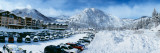 Snow Covered Cars in Parking Lot  Squaw Valley Ski Resort  Lake Tahoe  Placer County  California
