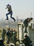 Peace Activist Leaps over Israeli Border Police Trying to Prevent Demolition of House  Jerusalem