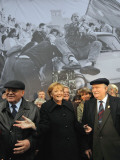 Former Soviet Leader Mikhail Gorbachev and Others During the Commemorations of Fall of Berlin Wall