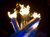 Olympic Flame Burns after Wayne Gretzky Lit the Olympic Cauldron at the 2010 Winter Games