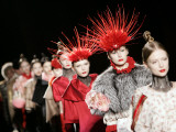 Models Present Creations by Japanese Fashion Designer Toshikazu Iwaya for Fashion House Iwaya