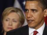 President Obama  Hillary Clinton at His Side  Announces New Strategy for Afghanistan and Pakistan