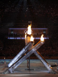 Olympic Cauldron after Being Lit at the Opening Ceremony for the Vancouver 2010 Winter Games