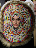 Model Wears a Creation by French Fashion Designer Jean Paul Gaultier